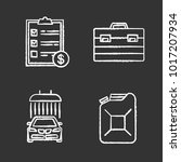 auto workshop chalk icons set.... | Shutterstock .eps vector #1017207934