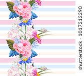 seamless pattern with beautiful ... | Shutterstock .eps vector #1017212290