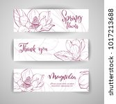 floral baners. hand drawn... | Shutterstock .eps vector #1017213688