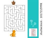 cartoon vector   maze or... | Shutterstock .eps vector #1017215998