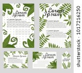 set of floral vector cards... | Shutterstock .eps vector #1017216250