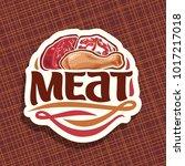 vector logo for meat | Shutterstock .eps vector #1017217018