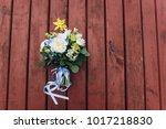 original wedding bouquet with... | Shutterstock . vector #1017218830