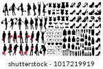 collection of fashion and... | Shutterstock .eps vector #1017219919
