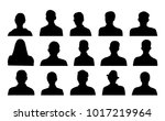 head silhouettes profile icons | Shutterstock .eps vector #1017219964