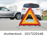accident or crash with two... | Shutterstock . vector #1017220168
