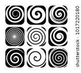 set of spiral motion elements ... | Shutterstock .eps vector #1017220180
