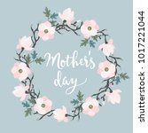 mothers day greeting card ... | Shutterstock .eps vector #1017221044