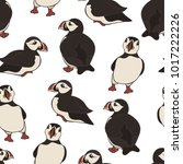 vector seamless pattern with... | Shutterstock .eps vector #1017222226