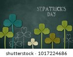 happy st. patrick's day on a... | Shutterstock . vector #1017224686