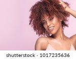 beautiful afro girl beauty... | Shutterstock . vector #1017235636
