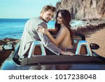 young attractive couple... | Shutterstock . vector #1017238048