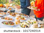 food buffet catering dining... | Shutterstock . vector #1017240514