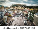 athens  greece   january 20 ... | Shutterstock . vector #1017241180