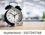 time for change or action... | Shutterstock . vector #1017241768