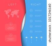 left right red blue background...   Shutterstock .eps vector #1017246160