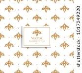 beautiful golden geometric...   Shutterstock .eps vector #1017249220