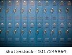 row of high school lockers | Shutterstock . vector #1017249964
