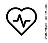 heart icon with pulse line....