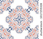 blue and orange ornamental... | Shutterstock .eps vector #1017255328