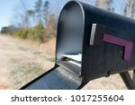 black mail box and post office... | Shutterstock . vector #1017255604