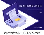 concept of electronic bill and... | Shutterstock .eps vector #1017256906