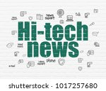 news concept  painted green... | Shutterstock . vector #1017257680