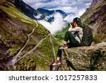 nature photographer tourist... | Shutterstock . vector #1017257833