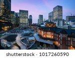 tokyo  japan at the marunouchi... | Shutterstock . vector #1017260590