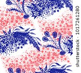seamless floral pattern with... | Shutterstock .eps vector #1017261280