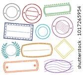 empty stamp frames grunge... | Shutterstock .eps vector #1017265954