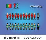 portugal football team soccer... | Shutterstock .eps vector #1017269989