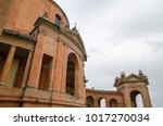 Small photo of BOLOGNA - MARCH 2013: Santuario Madonna di San Luca in Bologna, Italy. The Sanctuary of the Madonna of San Luca, a basilica church located atop Monte della Guardia.