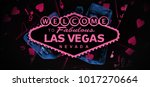 welcome to vegas dark banner... | Shutterstock . vector #1017270664