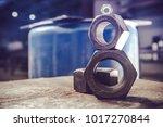 hexagon nuts metalworking... | Shutterstock . vector #1017270844