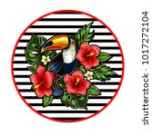 toucan embroidery patches with... | Shutterstock .eps vector #1017272104