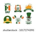 vector illustration. set of... | Shutterstock .eps vector #1017274390