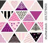 seamless pattern  patchwork... | Shutterstock .eps vector #1017275053