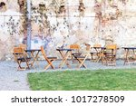 courtyard outdoor cafe area... | Shutterstock . vector #1017278509