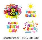 cute design for kids. art zone  ... | Shutterstock .eps vector #1017281230