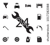 car service  24 hours icon. set ... | Shutterstock .eps vector #1017282088