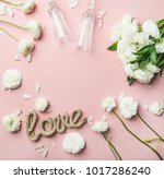 saint valentines day frame and... | Shutterstock . vector #1017286240