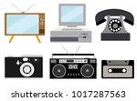 a set of retro electronics ...   Shutterstock .eps vector #1017287563