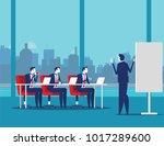 business team meeting working... | Shutterstock .eps vector #1017289600