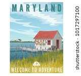 maryland  united states travel... | Shutterstock .eps vector #1017297100