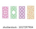 korean rectangle window frame... | Shutterstock .eps vector #1017297904