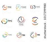 vector abstract logo idea  time ... | Shutterstock .eps vector #1017299980