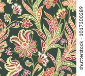 floral seamless pattern with... | Shutterstock .eps vector #1017300289
