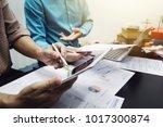 teamwork process  business... | Shutterstock . vector #1017300874