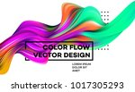modern colorful flow poster.... | Shutterstock .eps vector #1017305293